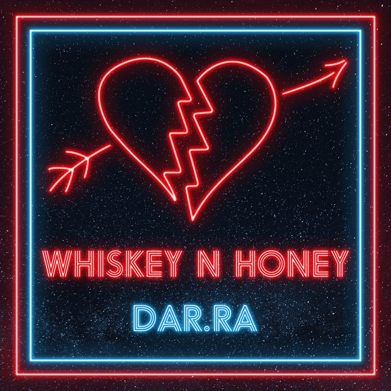 "Featuring ""The Lights Dark Night Remix' plus 'Neon Fantasy remix', 'Dar.Ra' lets loose a new sound with 'Whiskey n Honey'"